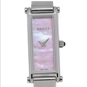 Gucci Accessories - Gucci pink shell dial stainless steel watch